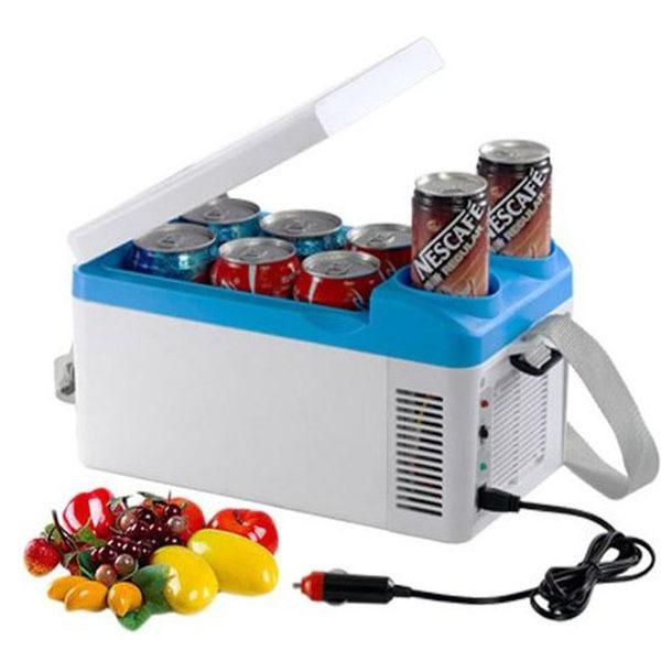12v 4L Mini Fridge Car Refrigerator From 5 To 60 Degree Centigrade Portable Car Fridge Cooling Drinks Fruit Heating Food(China (Mainland))