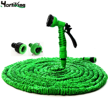 Hot Sale Expandable Garden Water Hose 25FT to 100FT For Car Magic Flexible Garden Hose Pipe Set To Watering With Spray Gun Green(China (Mainland))