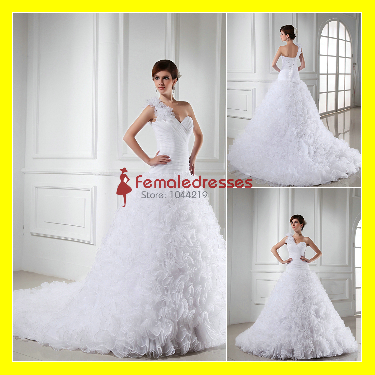 Baby wedding dresses ball gown floor length cathedral for Wedding dresses with royal length train