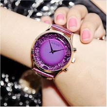 Buy GUOU Watch Women Luxury Diamond Wrist watches Women Watches Genuine Leather Ladies Watch Clock montre femme relogio feminino for $14.55 in AliExpress store