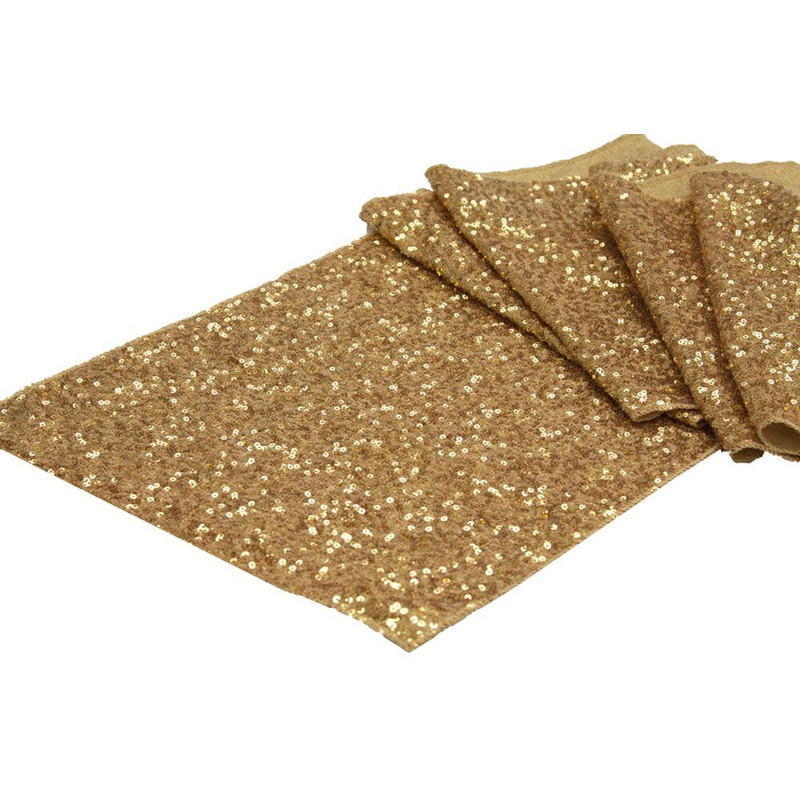 30* 275 cm / 30*180cm High-grade Gold Silver Sequin Table Runner Wedding Sparkly Bling Wedding Party Decoration V30(China (Mainland))