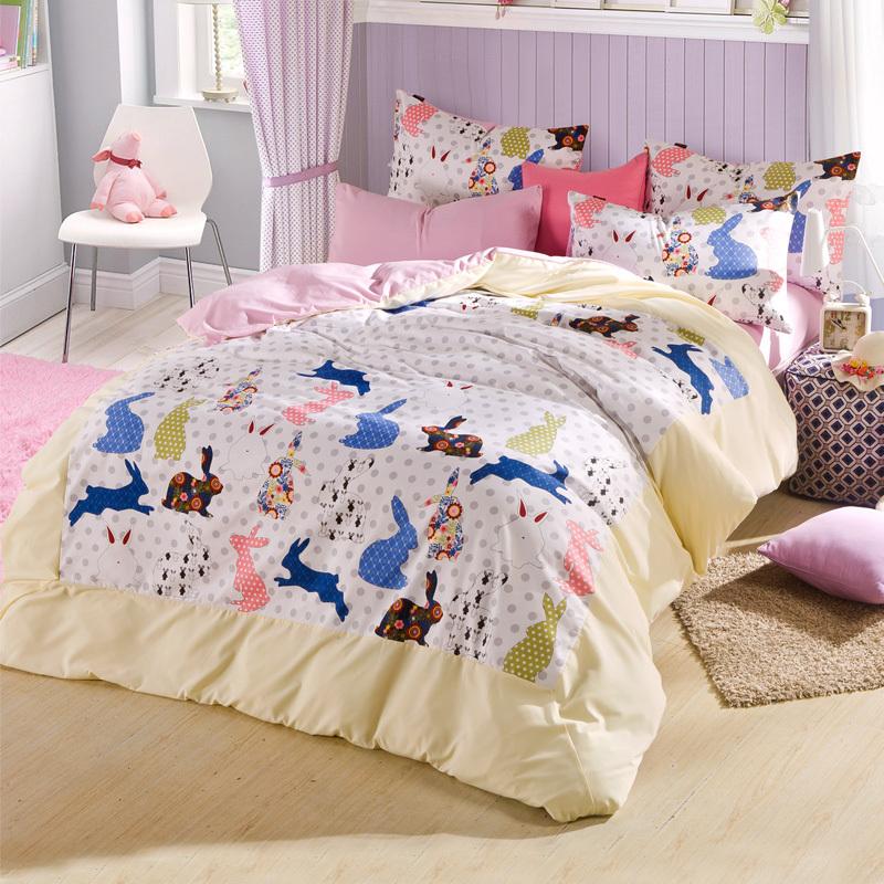 2015home Textile 100 Cotton 4pcs Cute Children Warm