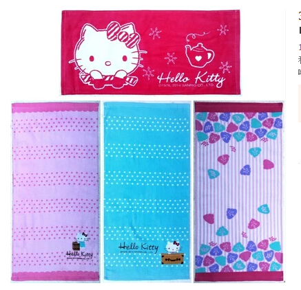 Clearance Sale Hello Kitty Face Multifunctional Use Baby Bath Towel Women Hand Face Towel (10 Pcs/Lot)(China (Mainland))