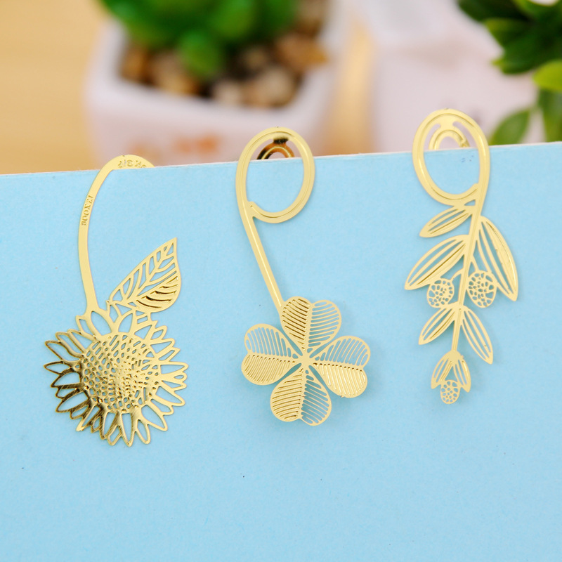 1PCS Creative cute novelty Exquisite mini metal bookmark Chinese style Classic simple Bookmarks stationery supplies wholesale(China (Mainland))
