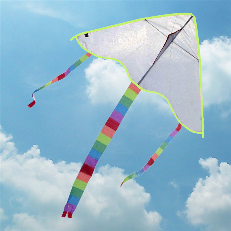 New Hot Diy Kite Painting Kite without Handle Line Outdoor Toys Flying Papalote Toy Kite Fly a Kite Nylon Ripstop Fabric(China (Mainland))