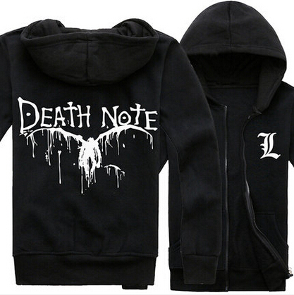 New Death Note Black Hoodie Jacket Autumn Winter Warm Fashion Hoodies Coat Sweatshirts For Men Boy Cosplay Costume Free ShippingОдежда и ак�е��уары<br><br><br>Aliexpress