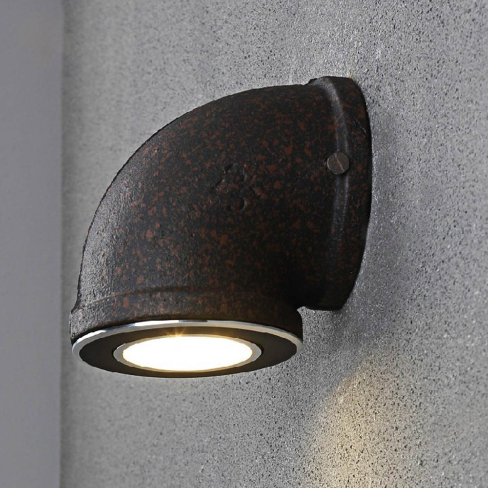 Novelty Industrial Water Pipe Wall Light American Country Loft Wall Lamp Bar Aisle Cafe ...