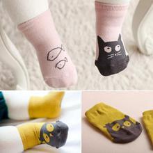 Factory Price! Cute Toddler Baby Soft Socks Cartoon Owl Pattern Socks Infants Cotton Socks