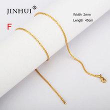 Jin hui africano novo dubai cor do ouro colares comprimento 45cm moda masculina mulher jóias amigo presente de aniversário para meninas presentes(China)