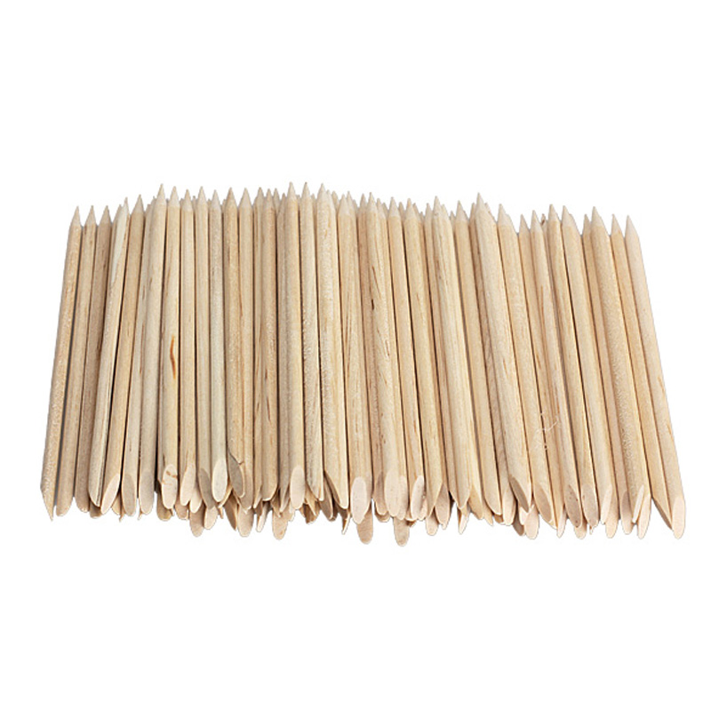 1 Pack Nail Art Orange Wood Sticks Cuticle Pusher Remover Spade Shape Sharp Tip Two-End Manicure Nails Tool Wholesale free ship(China (Mainland))