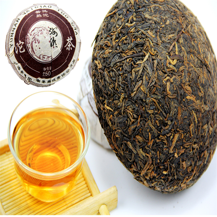 Top Grade 250g Ripe Pu er Bowl Tea Sale Healthy Care Organic Tuocha Pu er Tea