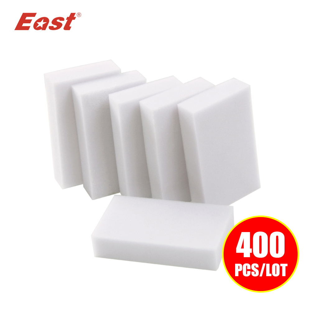 East 400 pcs/lot High Quality Magic Sponge Eraser Melamine Cleaner Dish Cleaner for Kitchen Office Bathroom Cleaning 10x6x2CM(China (Mainland))