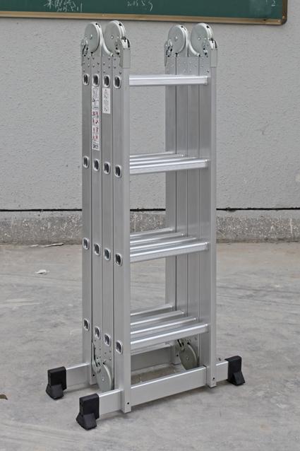 4.7m aluminum multipurpose used step ladder for sale, 4*4 steps foldiing step ladder with big hinge(China (Mainland))