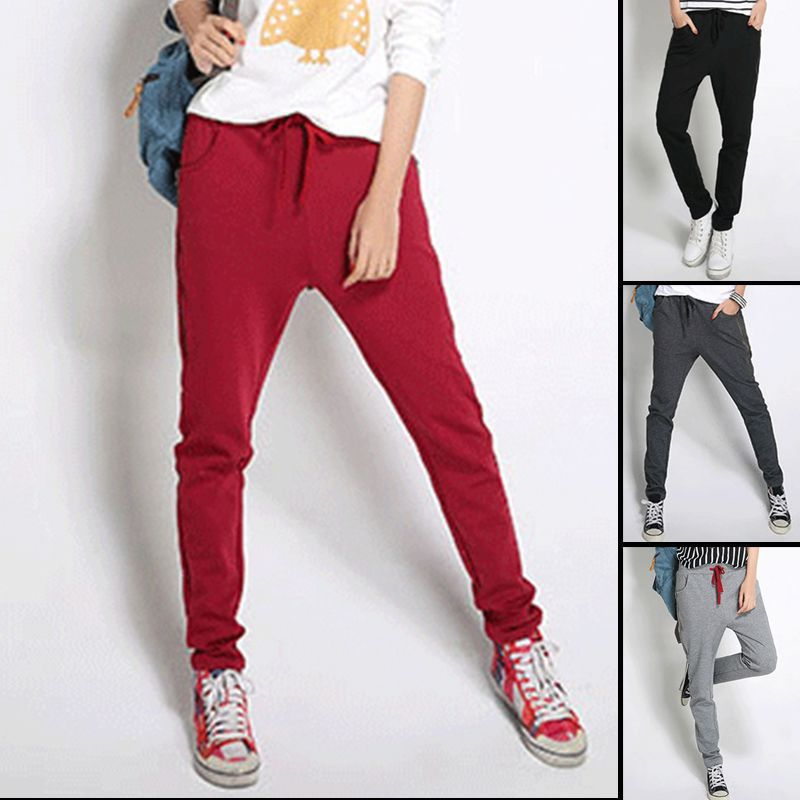 Fashion Design Hot Sale 4 Colors Pants Women Harem Loose Hip-Hop Pants lx*E3208#c9(China (Mainland))