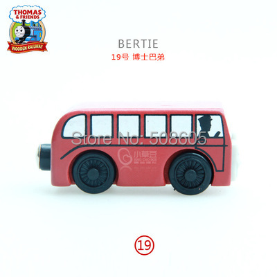 Magnetic Wooden Thomas And Friends Trackmaster Railway Tracks Trains Elephant Lion Child Toys BERTIE(China (Mainland))