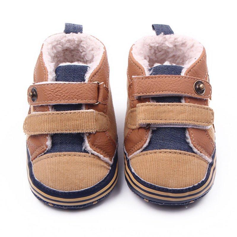 Fashion Antislip Bebe BootsWinter Newborn Baby Boys Shoes Warm First Walker Baby Shoes(China (Mainland))