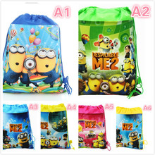 Fashion Cute 3D Despicable Me Minions School Bag Minion Backpack for Children