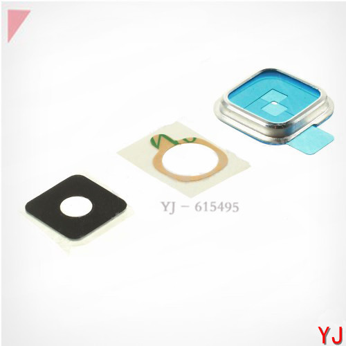 10 pcs/lot Samsung Galaxy S5 Camera Lens Glass len + Bezel Sticker Repair Part - Silver/Gold YJ phone Accessories Shop store