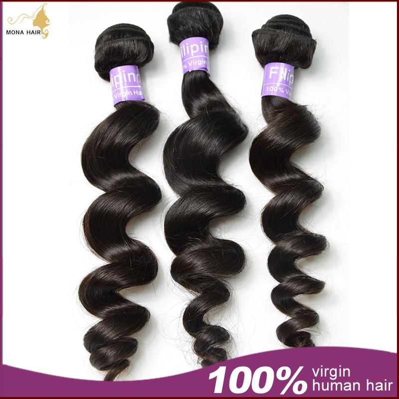 Filipino Virgin Hair,3 Bundles Of 7A Filipino Loose Wave Juliet Virgin Hair Color Free Shipping