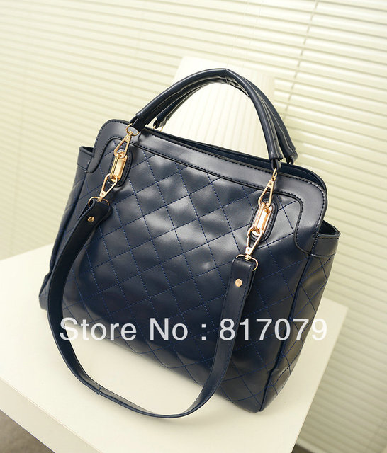 2013 women's handbag fashion dimond plaid handbag bags