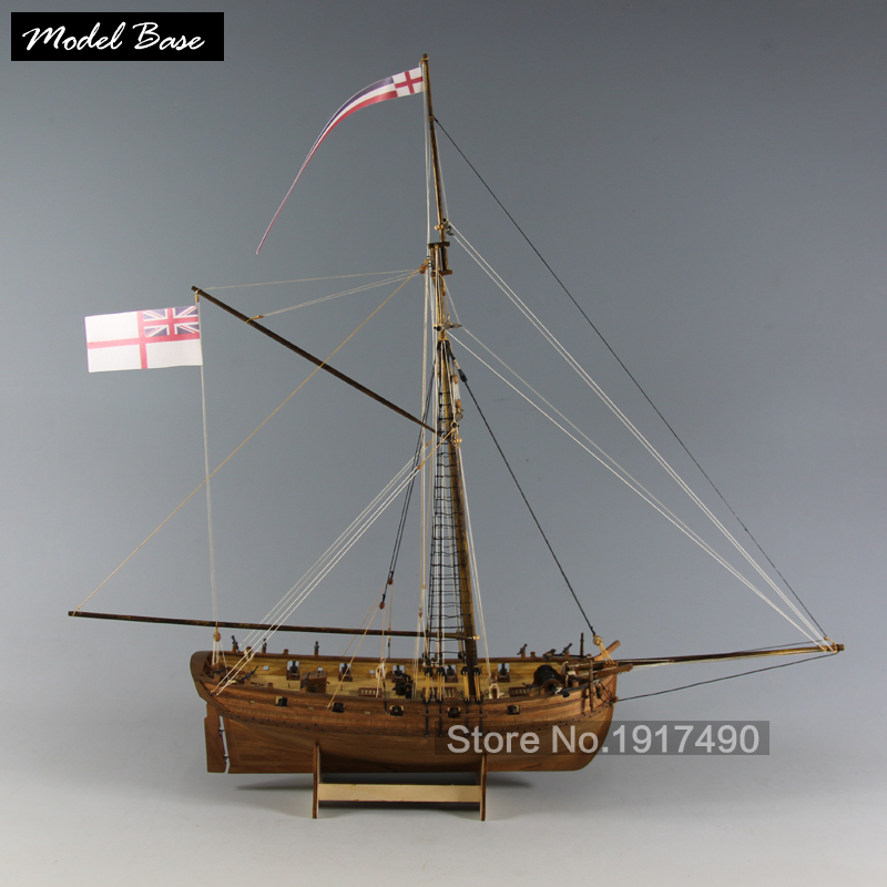 Wooden Ship Model Kits Educational Toy Model-Ship-Assembly DiyTrain Hobby Model-Wood-Boats 3d Laser Cut Scale 1/64 LADY NELSON(China (Mainland))
