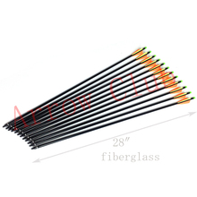 Recurve bow arrow replaceable tips specially for children pratice archery 28 fiberglass bow arrow