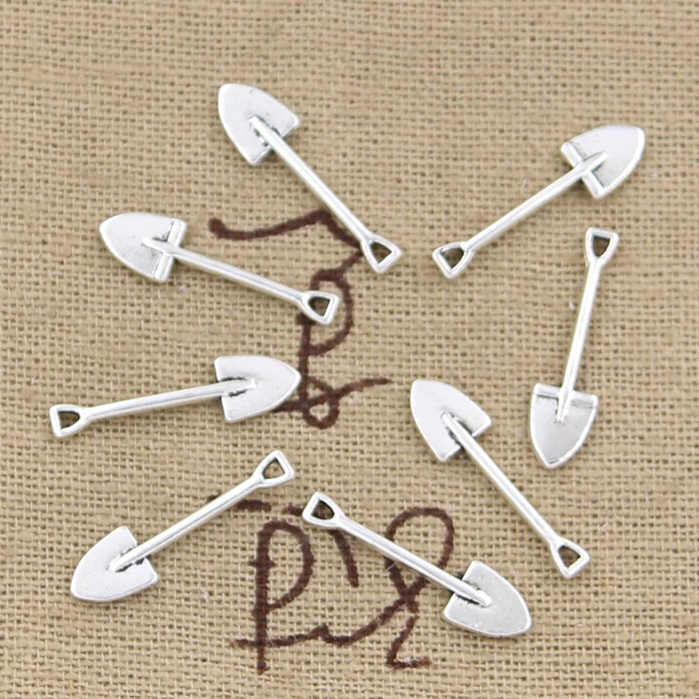 99Cents 15pcs Charms shovel spade gardening 19*5mm Antique Making pendant fit,Vintage Tibetan Silver,DIY bracelet necklace(China (Mainland))
