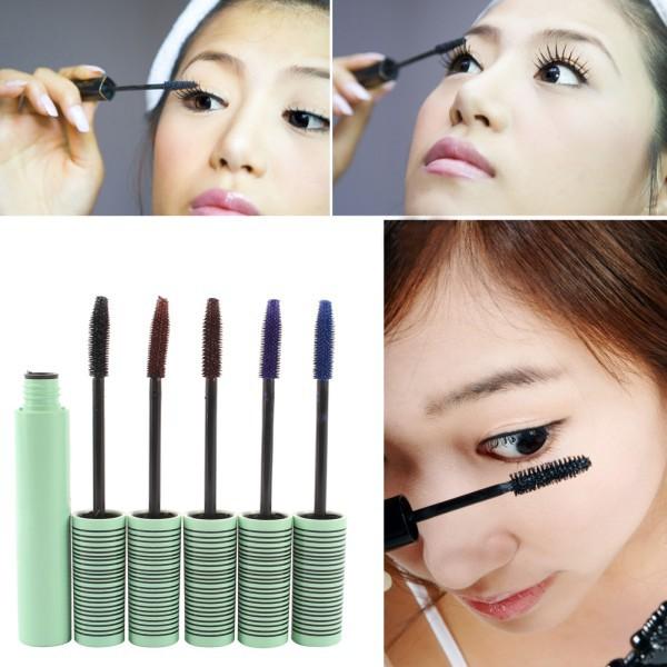 Colorful Fiber Eye Lashes Waterproof Mascara Eyelash Extensions Long Curl Makeup Stylish(China (Mainland))