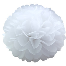 Tema blanco estilo fiesta boda DIY decoraciones cinta/linterna de papel/paraguas/globos bolas de flores de hortensia de rosas artificiales(China)
