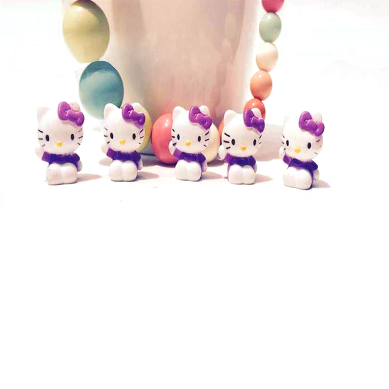 20pcs/lot lovely cute purple kitty cat toys 2CM for girls, pvc toy home decoration, action figures wholesale(China (Mainland))