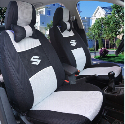 Universal Car Seat Covers For Suzuki Jimny Grand Vitara Kizashi Swift Alto SX4 Wagon R Palette Stingray car accessories(China (Mainland))