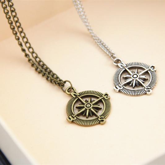 Sunshine jewelry store 2014 new european style compass necklaces & pendants ( $ ) X999(China (Mainland))