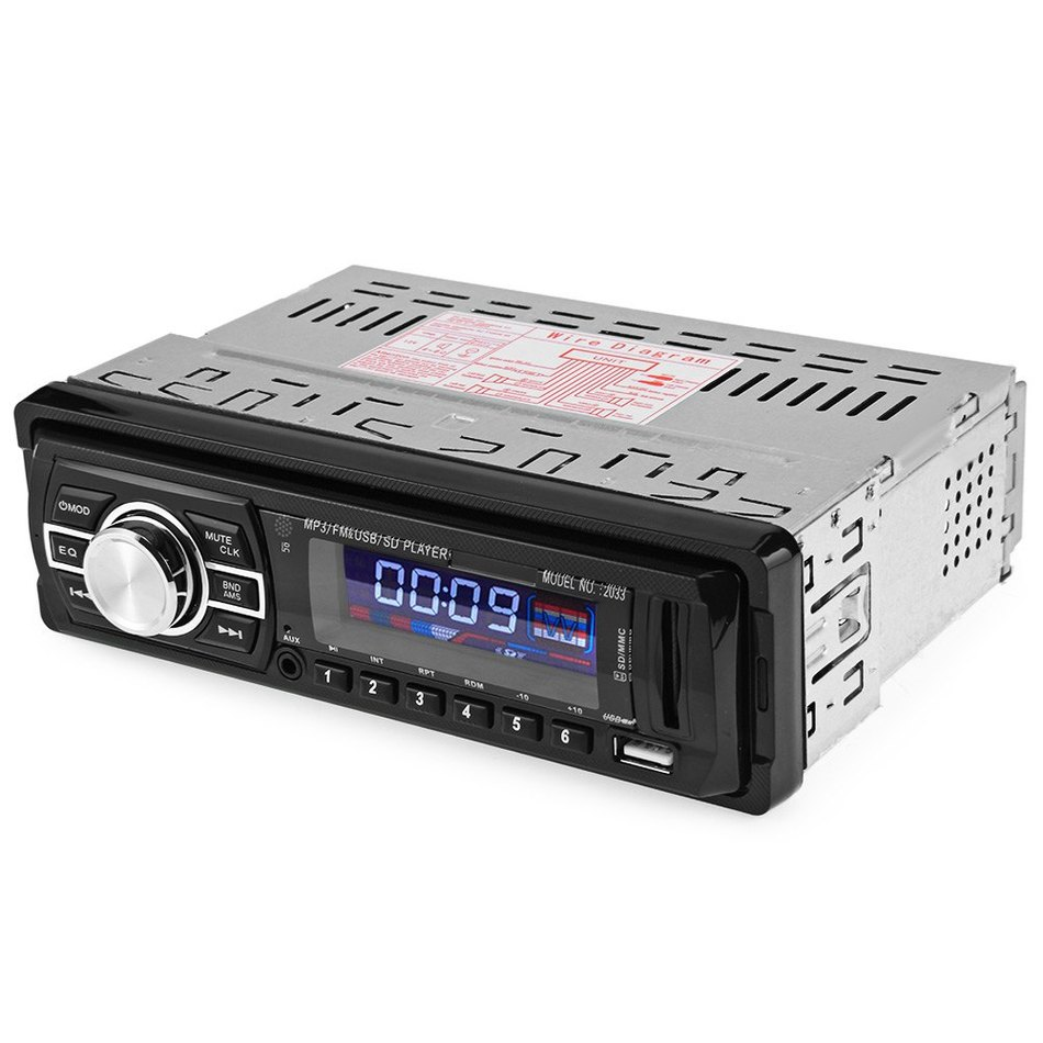 2033 Car Radio 12V Auto Audio Stereo FM SD MP3 Player AUX USB with Remote Control(China (Mainland))