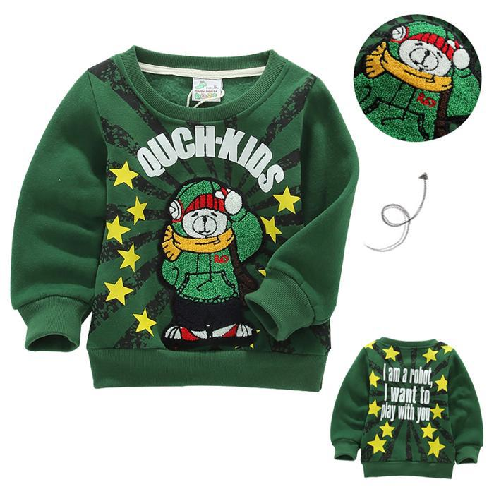 baby boy kids autumn winter clothing girl cartoon long sleeve fabics thick wool warmth - Happy insects or sago store