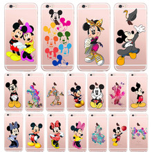 For Apple iphone 6 6s iphone Case Mickey Minnie pattern Back Covers Slim Shell For iphone6 iphone6s6 Fashion phone Cases coque