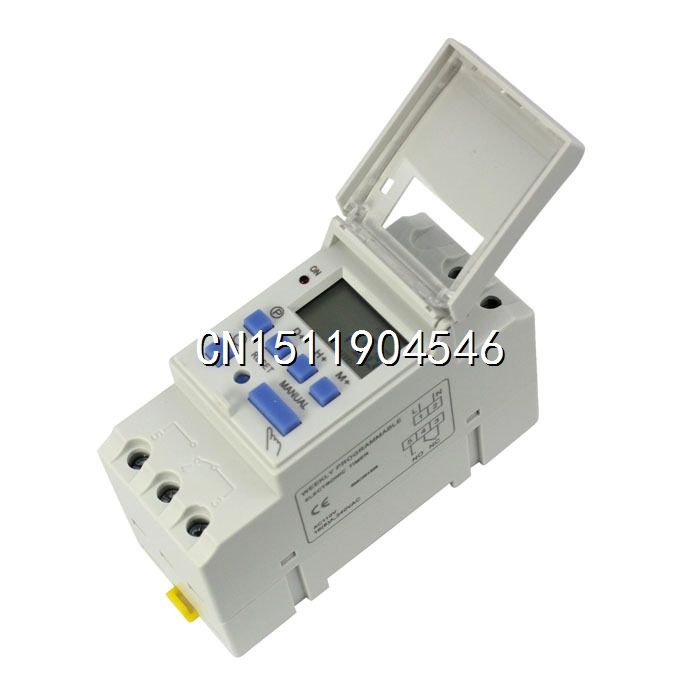15A 110V 220V Digital LCD Weekly Programmable Timer Time Relay Switch