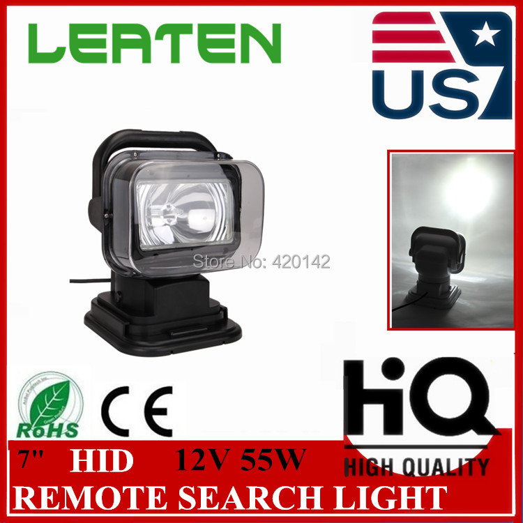 FREE SHIPPING 12V55W hid remote controller spotlight hid searchlight wire less search light for boat marine 4x4 off road use(China (Mainland))