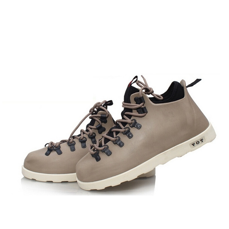 New 2014 Winter/Spring Men Shoes Leather Waterproof Snow Fur Ankle
