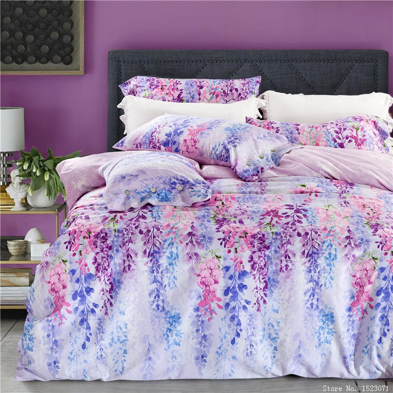 Bed sheet floral bed sheets ikea bed sheets - Style Bedding Sets Health Cotton Flower Bed Linen Duvet Cover