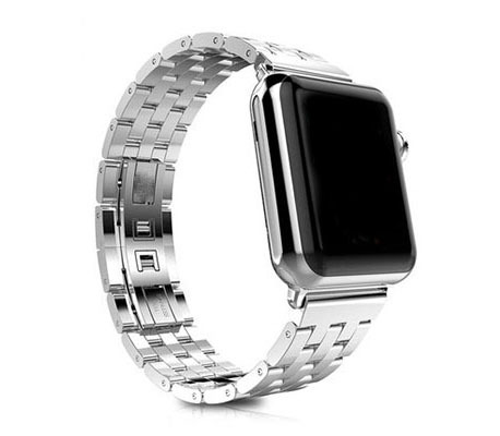 URVOI new arrival link bracelet for apple watch band/strap fashion luxury 316 stainless steel strap with metal buckle IW15(China (Mainland))