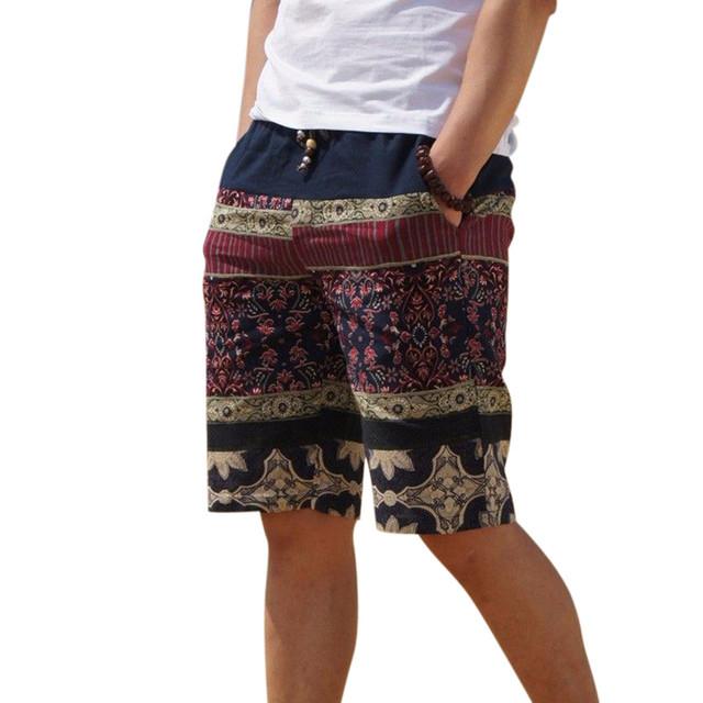 Мужская белье шорты личности этническом стиле цвет сшивание 2016 летний новый отдыха ...