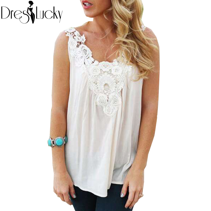Summer Sexy White Tank Top Women Vest 2016 Fashion New Sleeveless Top Female Lace Patchwork Loose Solid T-shirts Casual Clothes(China (Mainland))