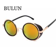 BULUN New Vintage Round Glasses Steampunk Sunglasses Women Brand Designer Sun Glass Men Unisex Oculos De Sol Feminino De Soleil