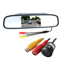 Waterproof 170 Lens Angle CMOS Car Rearview Parking Camera with 4.3 Inch TFT LCD Monitor for Reversing Backup Parking Assitance(China (Mainland))