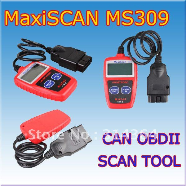 AUTEL MaxiScan MS309 obd2 eobd can bus code reader diagnostic EOBDII Free shipping(China (Mainland))