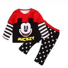 Buy 2016 children summer baby boys clothing sets Mickey 2pcs girls clothes sets Infant clothes toddler boys set for $6.75 in AliExpress store