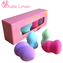4pcs=1pack Soft Polyurethane Bundle Monster Pro Beauty Flawless Makeup Blender Foundation Cosmetic Puff Sponges Bag #1104(China (Mainland))