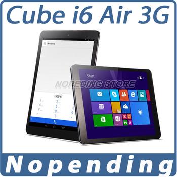 Новый куб i6 воздуха 3 г Win8.1 + Android4.4 двойной ос планшет пк Intel Z3735F четырехъядерных процессоров 1.8 ГГц 9.7 2048 * 1536 3 г телефонный звонок планшет 2 ГБ / 32 ГБ