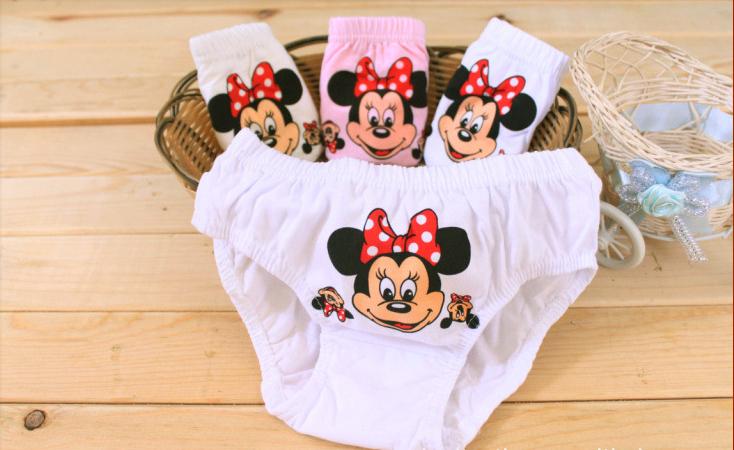 Free shipping Baby Girls Fashion Underwear Kids Cute Cartoon Panties Children Soft Cotton,wholesale and retail(China (Mainland))