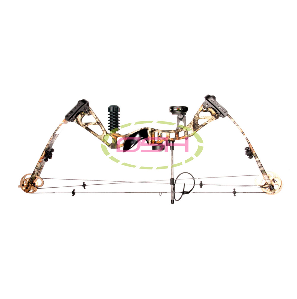 New most Let off 80 China Archery Black and Camouflage 60lbs hunting and shooting compound bow